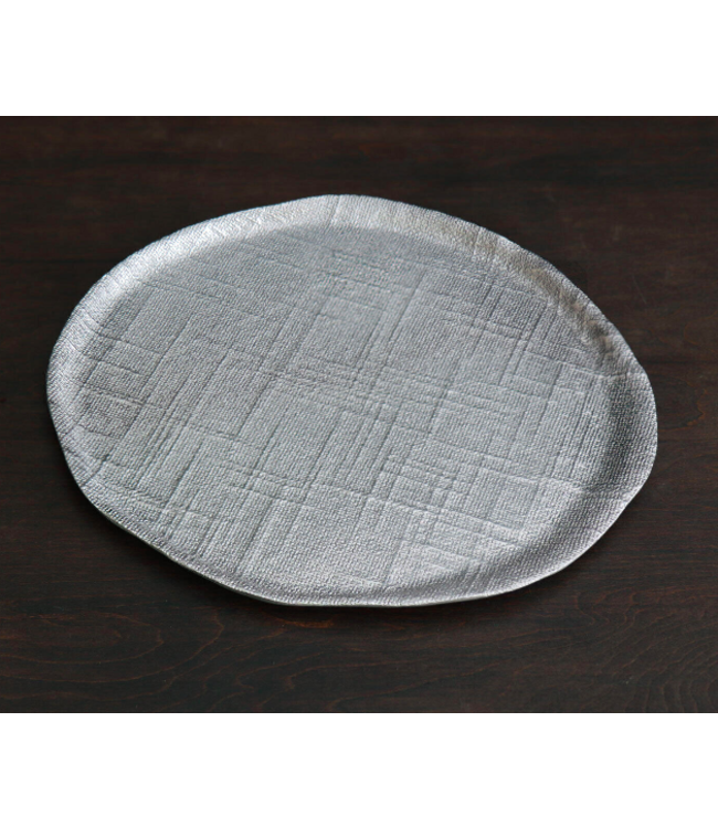 Sierra Seattle Small Round Platter - Gunmetal