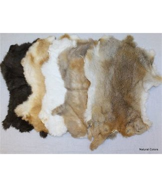 The B.S. Trading Rug Assorted Natural Rabbit Hide