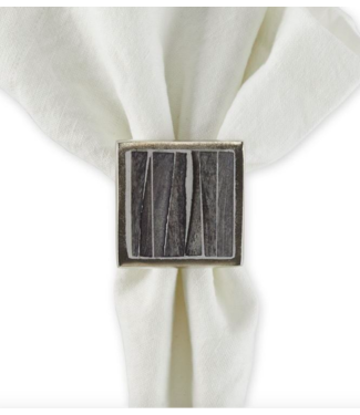 Tableau Bone and Slate Napkin Ring