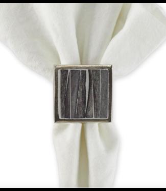 Tableau Bone and Slate Napkin Ring