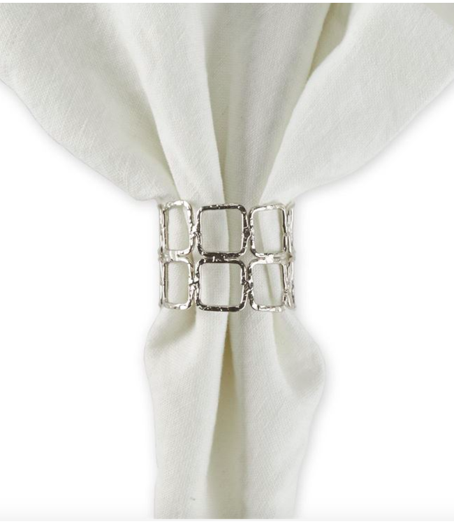 Double Square Napkin Ring - Silver