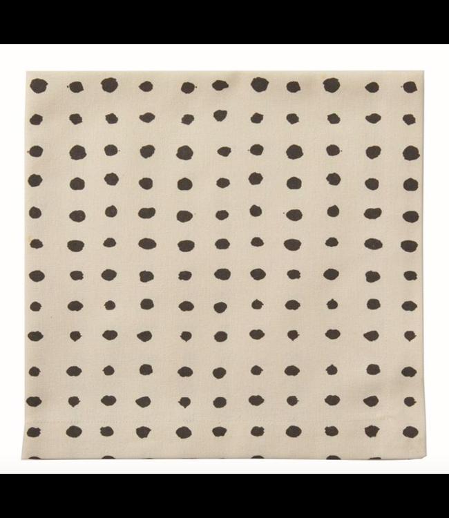 Napkin with Black Dots