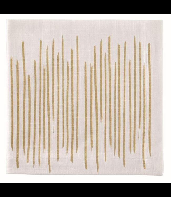 Gold Brushstroke Napkin