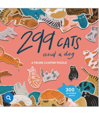 Hachette Book Group/ Abrams Books 299 Cats (and a dog): A Feline Cluster Puzzle