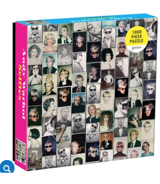 Hachette Book Group/ Abrams Books Andy Warhol Selfies 1000 Piece Puzzle in a Square Box