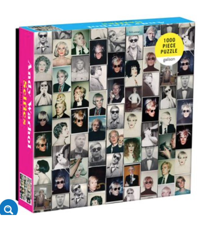 Andy Warhol Selfies 1000 Piece Puzzle in a Square Box