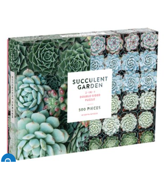 Hachette Book Group/ Abrams Books Succulent Garden 2-sided 500 Piece Puzzle
