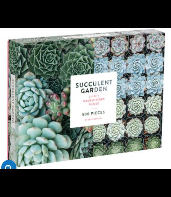 Succulent Garden 2-sided 500 Piece Puzzle