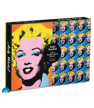 Hachette Book Group/ Abrams Books Warhol Marilyn 500 Piece Double Sided Puzzle