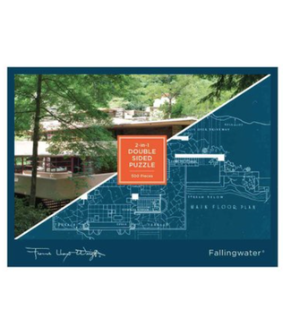 Hachette Book Group/ Abrams Books Frank Lloyd Wright Fallingwater 2-sided 500 Piece Puzzle