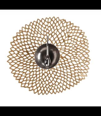 Brass Pressed Dahlia Tablemat