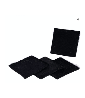 The B.S. Trading Rug Assorted Hide Coasters