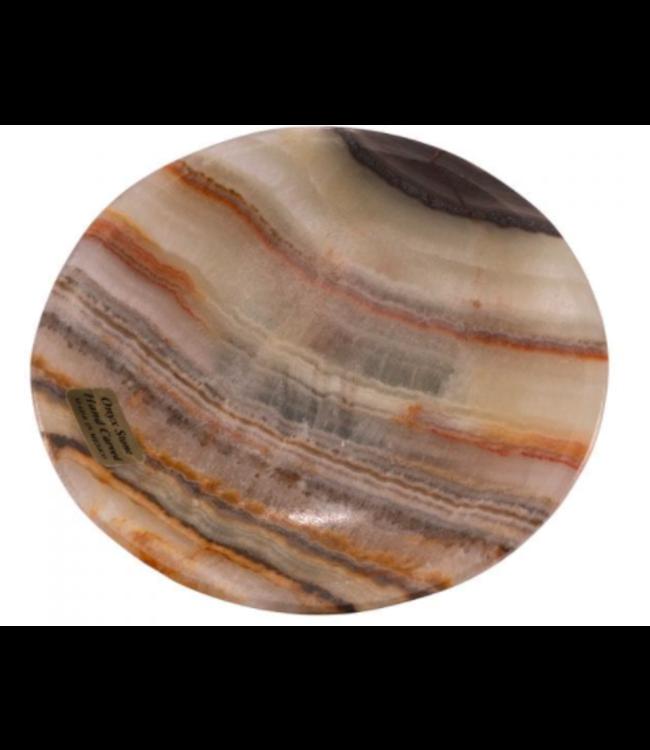 Round Onyx Soap Dish - Zebra