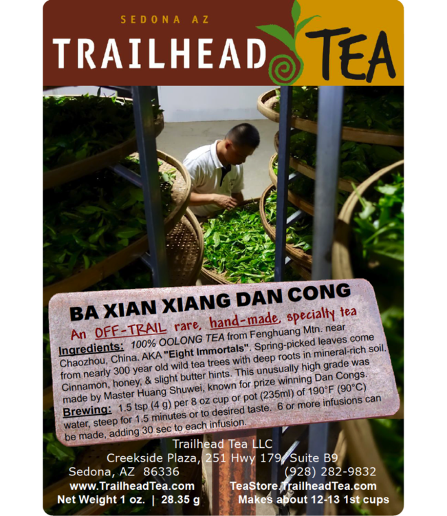 Off-Trail-Rare Ba Xian Xiang, Eight Immortals Phoenix Dan Cong Oolong (Off-Trail Oolong)