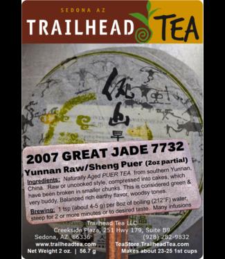 Tea from China 2007 Great Jade 7732 Puer (Raw/Sheng)