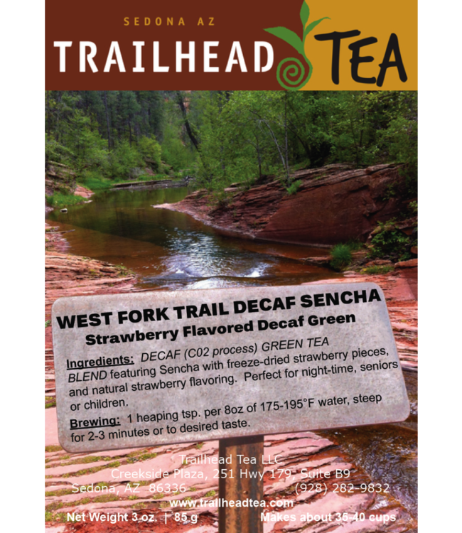 Tea from Japan West Fork Trail Decaf Sencha Strawberry
