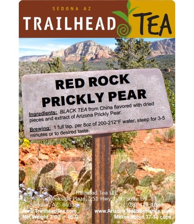 Tea from China Red Rock Prickly Pear from Trailhead Tea, Sedona Arizona's Full-Leaf Tea Department Store