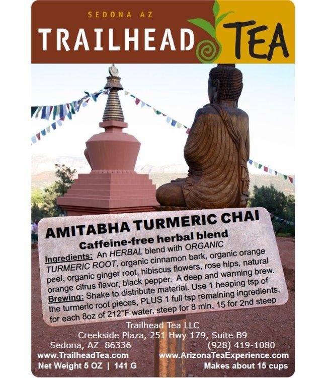 Herbal Blends Amitabha Turmeric Chai from Trailhead Tea, Sedona Arizona's Full-Leaf Tea Department Store
