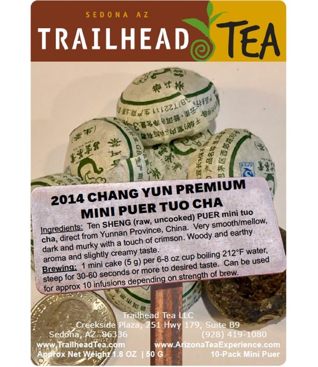 Tea from China 2014 ChangYun Premium Mini Puer Tuo Cha (RAW/SHENG, Package, 2.5oz, 10cakes