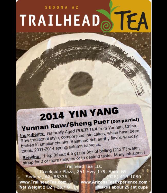 Tea from China 2014 Trailhead Tea YinYang Puer Cake (Raw/Sheng)