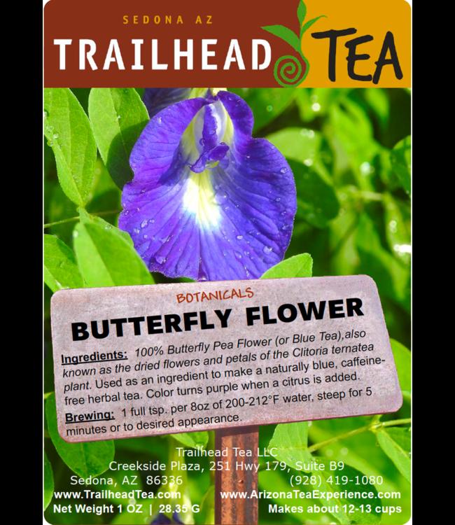 Botanical Magic Blue Butterfly Flower