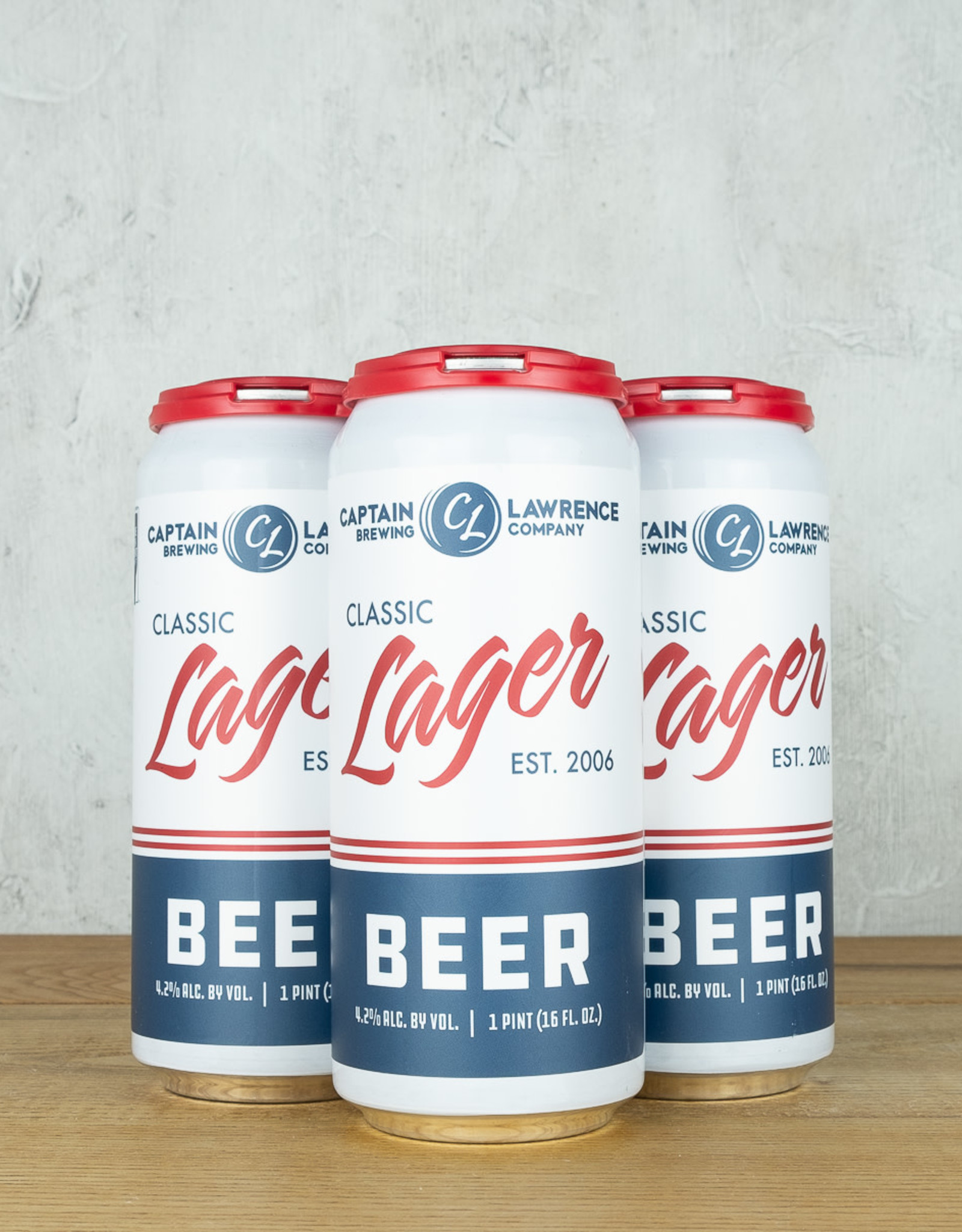 Captain Lawrence Classic Lager 4pk