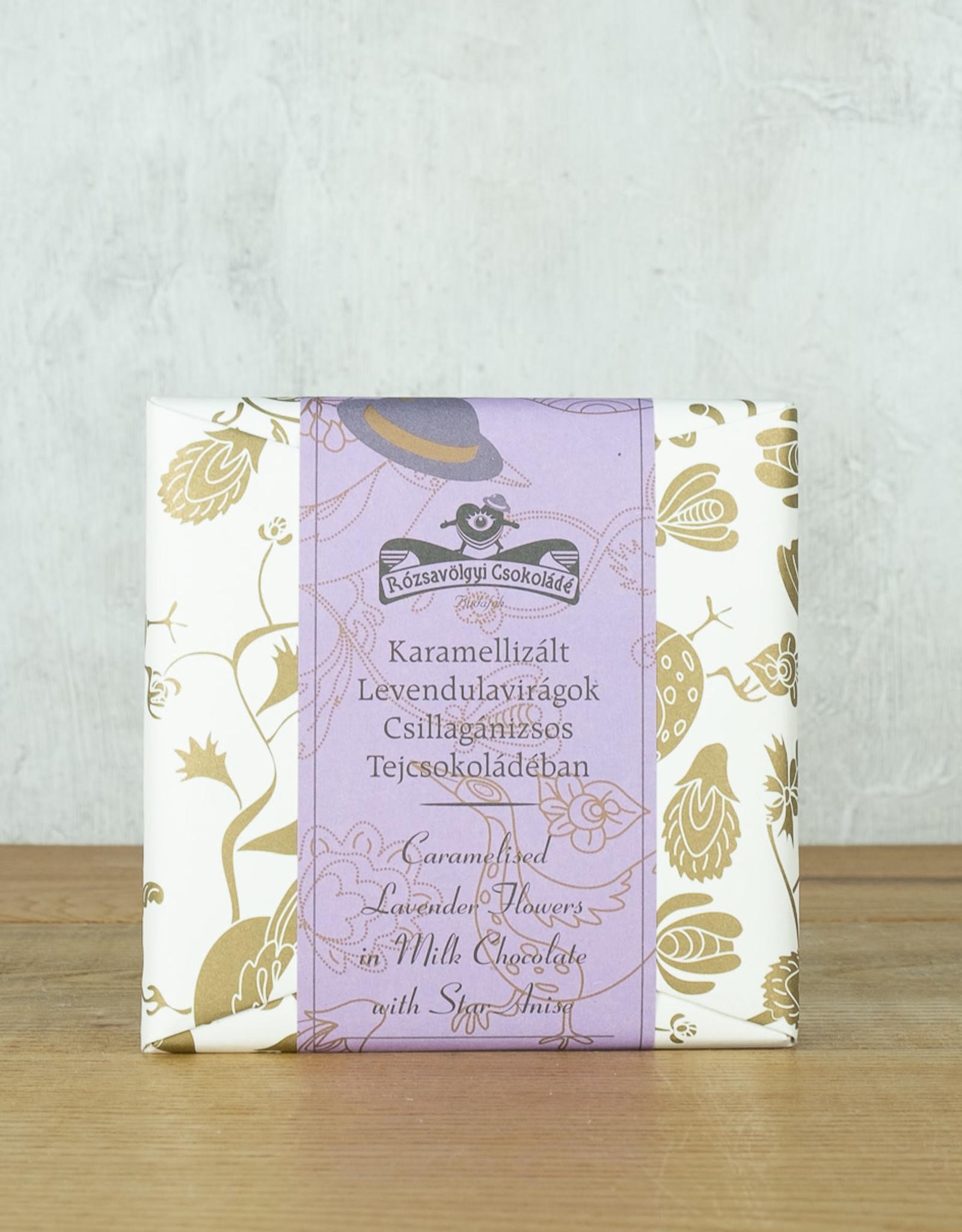 Rózsavölgyi Csokoládá Milk Chocolate with Caramelized Lavendar Flowers