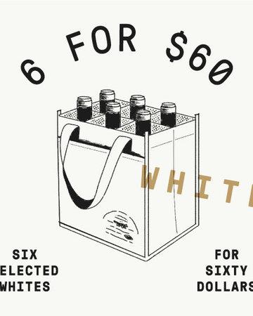 6 for 60 ALL WHITE