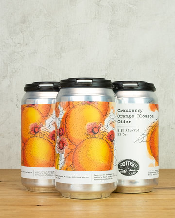 Potters Cranberry Orange 4pk