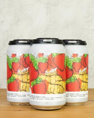 Potter's Strawberry Ginger Cider 4pk