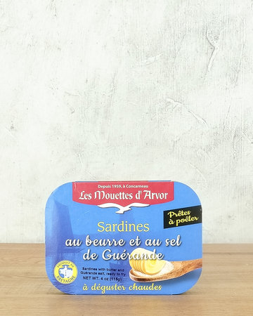 Les Mouettes d'Arvor Sardines with Butter & Sea Salt