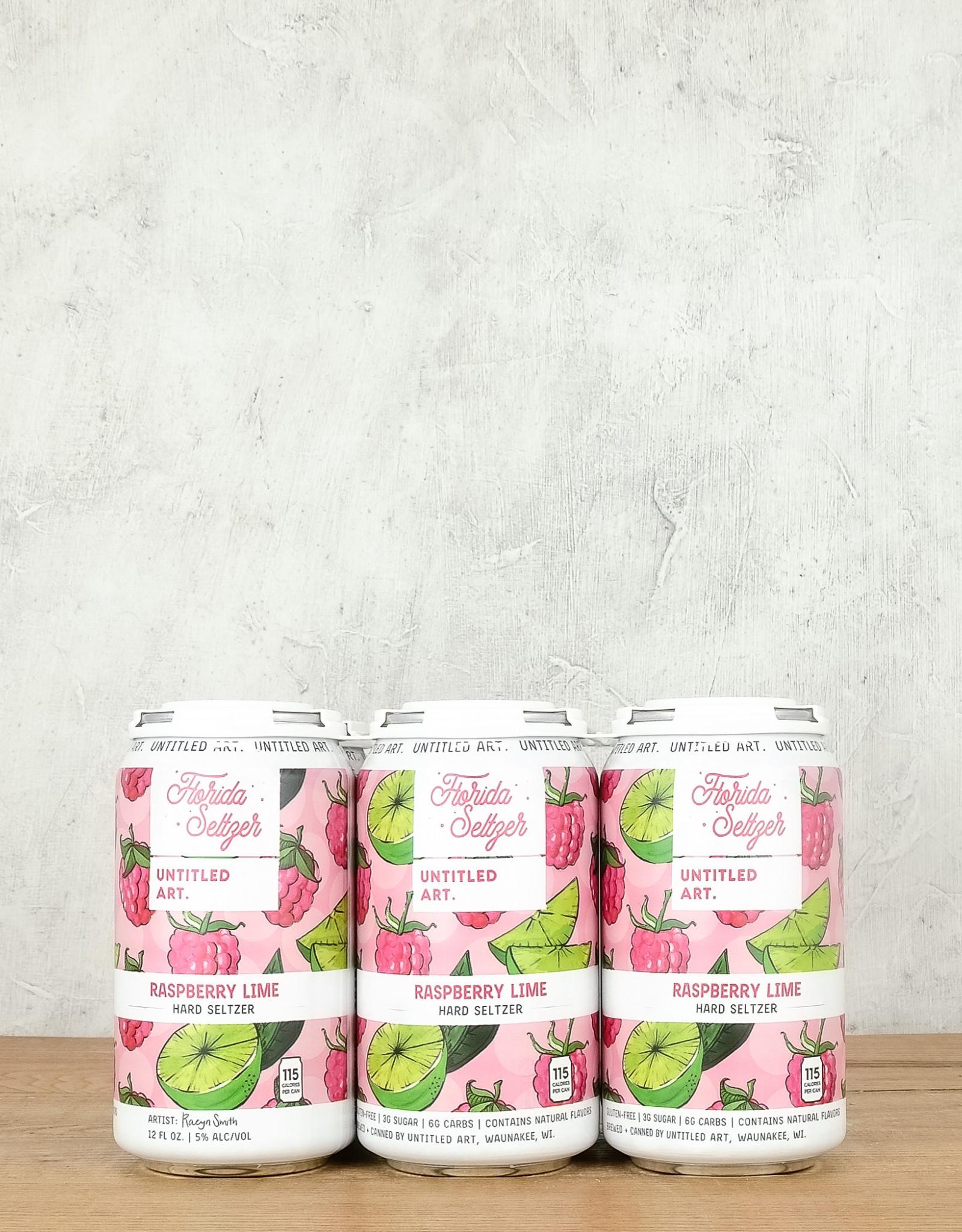 Untitled Arts Raspberry Lime Hard Seltzer 6pk