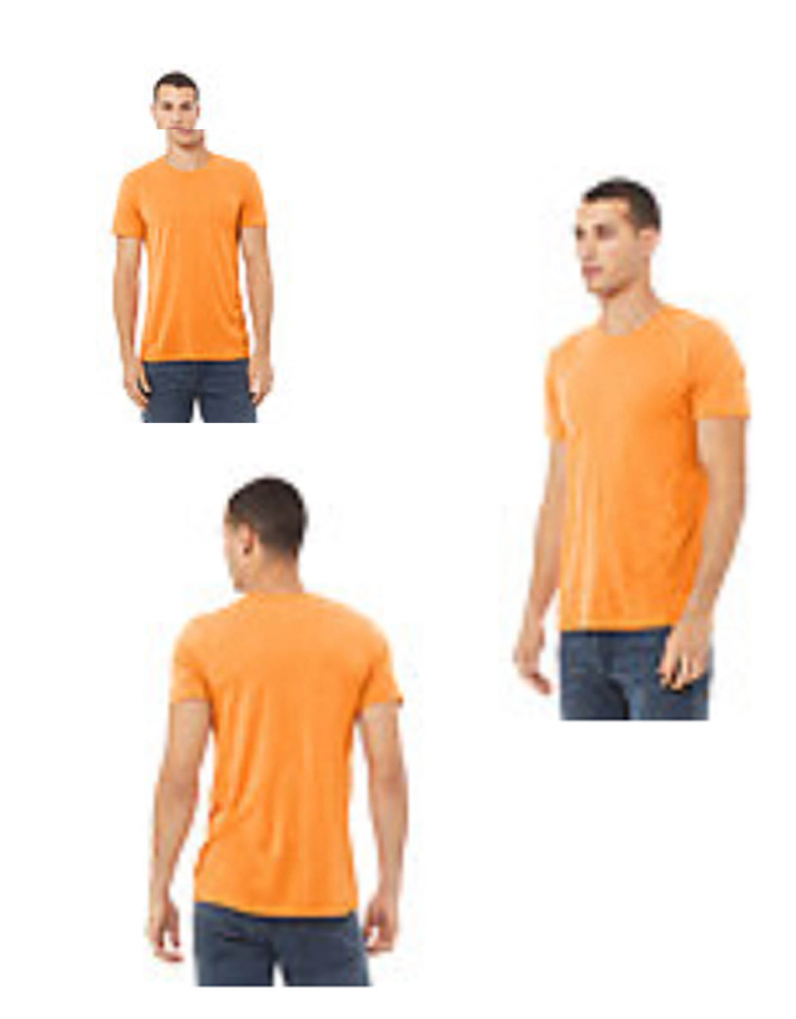 Canvas Orange Unisex Logo Tee
