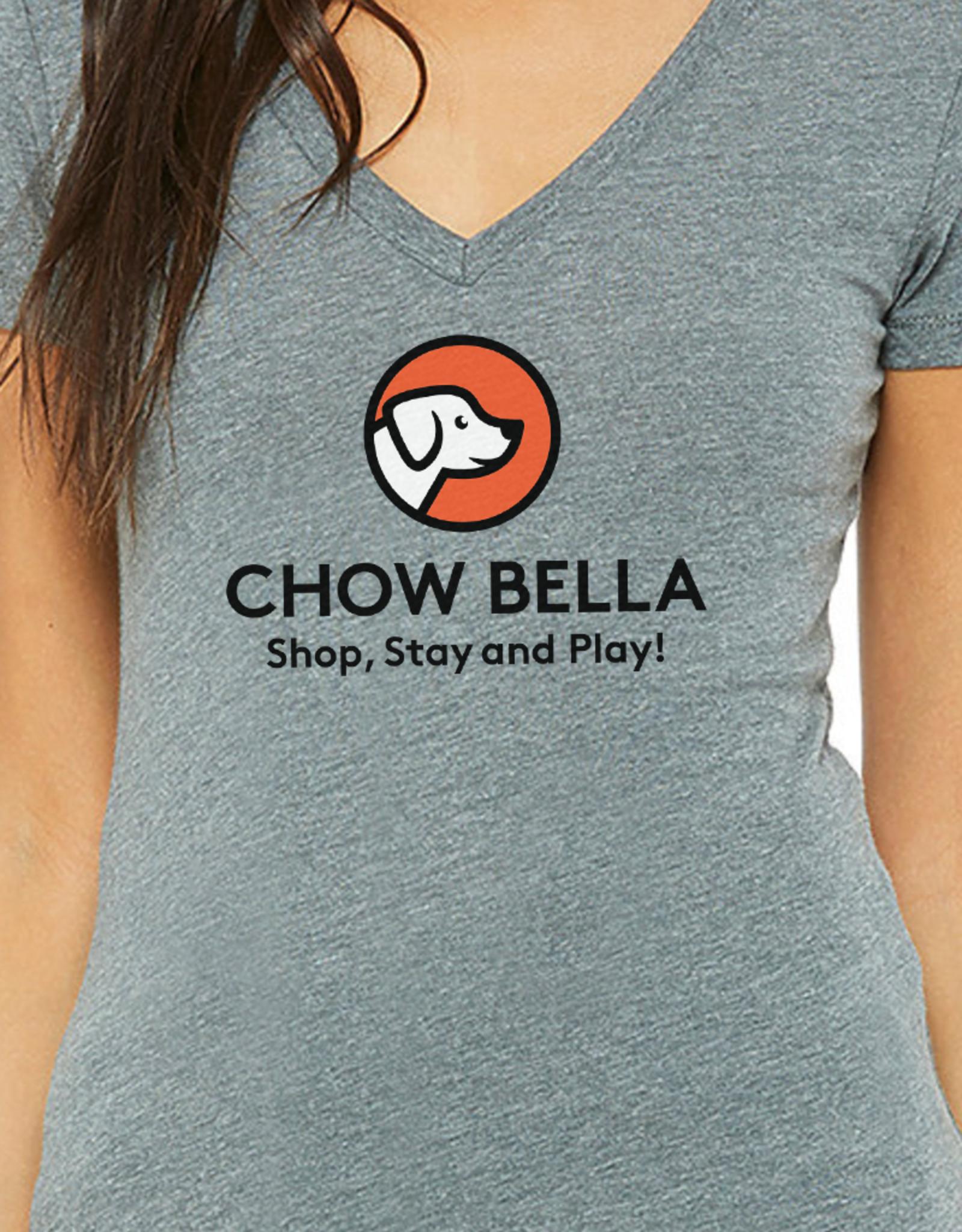 Bella Canvas Womens V Neck Logo Tee