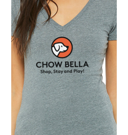 Bella Canvas Womens V Neck Logo Tee
