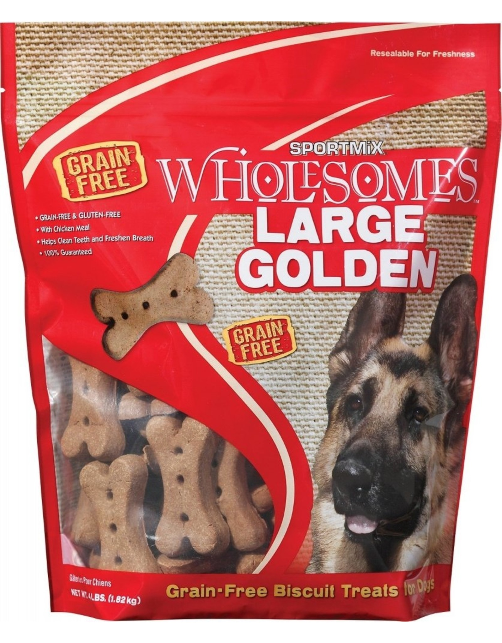 Sportmix SPORTMiX Wholesomes Large Golden Grain-Free Biscuit Dog Treats, 4-lb bag