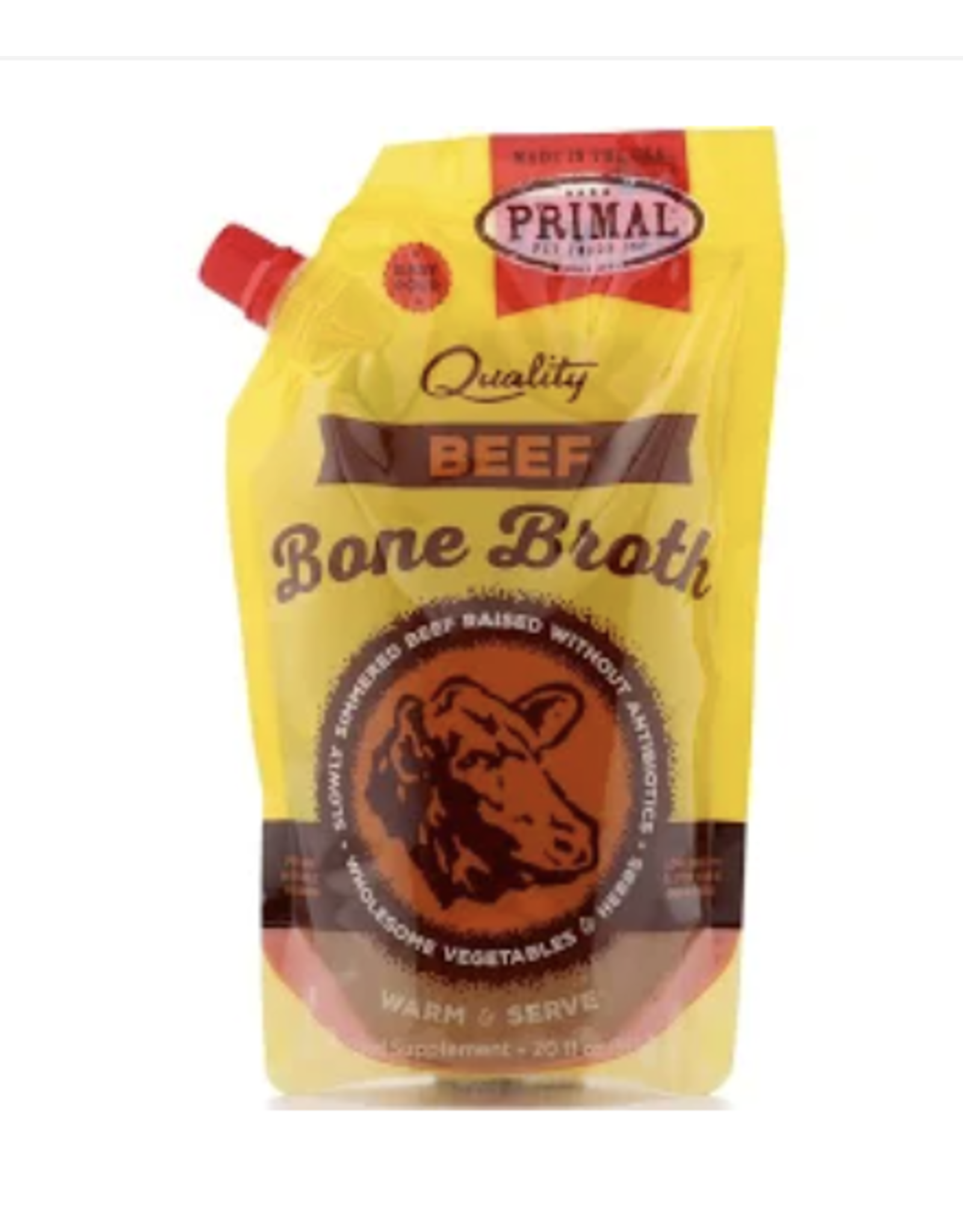 Primal PRIMAL Frozen Bone Broth - Beef 20 OZ