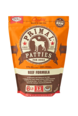 Primal Primal Patties for Dogs - Beef Formula - 6 LB