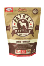 Primal Primal Patties for Dogs - Lamb Formula - 6 LB