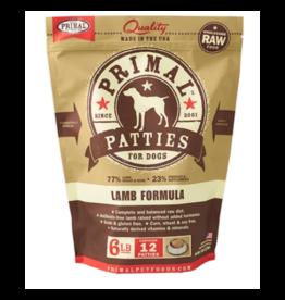 Primal Primal Patties for Dogs - Lamb Formula - 6 LB