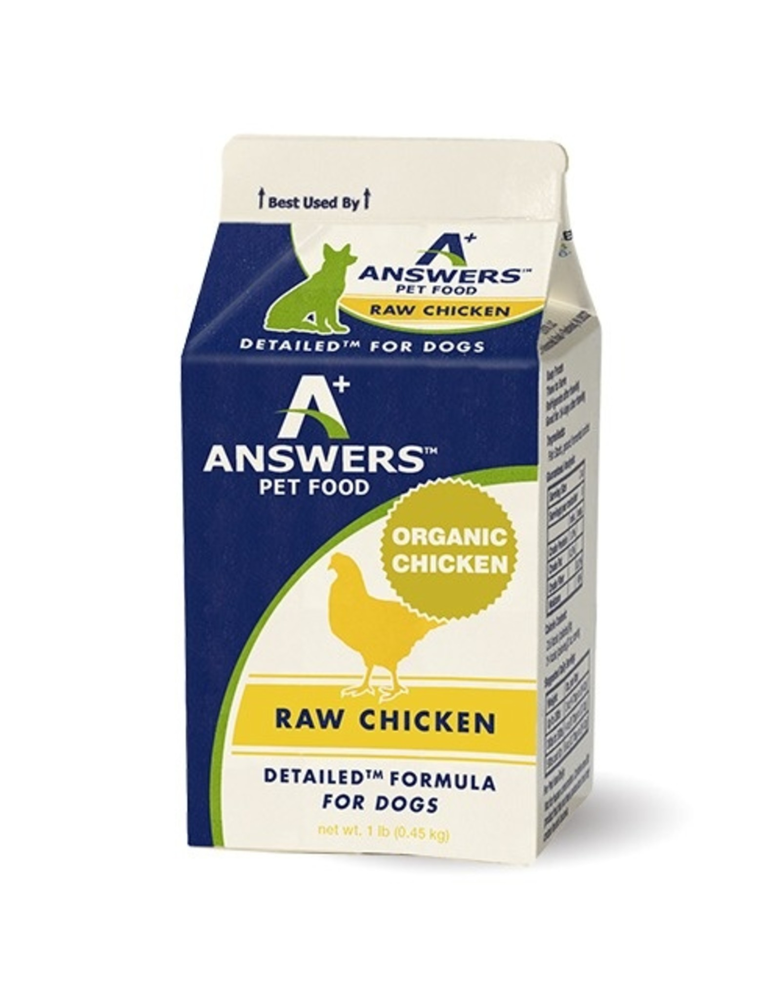 Answers Answers Detailed Formula Raw Chicken 1#