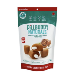 Presidio Natural Presido Pill Buddy Naturals Hickory Smoked Beef Recipe Dog Treats 150G