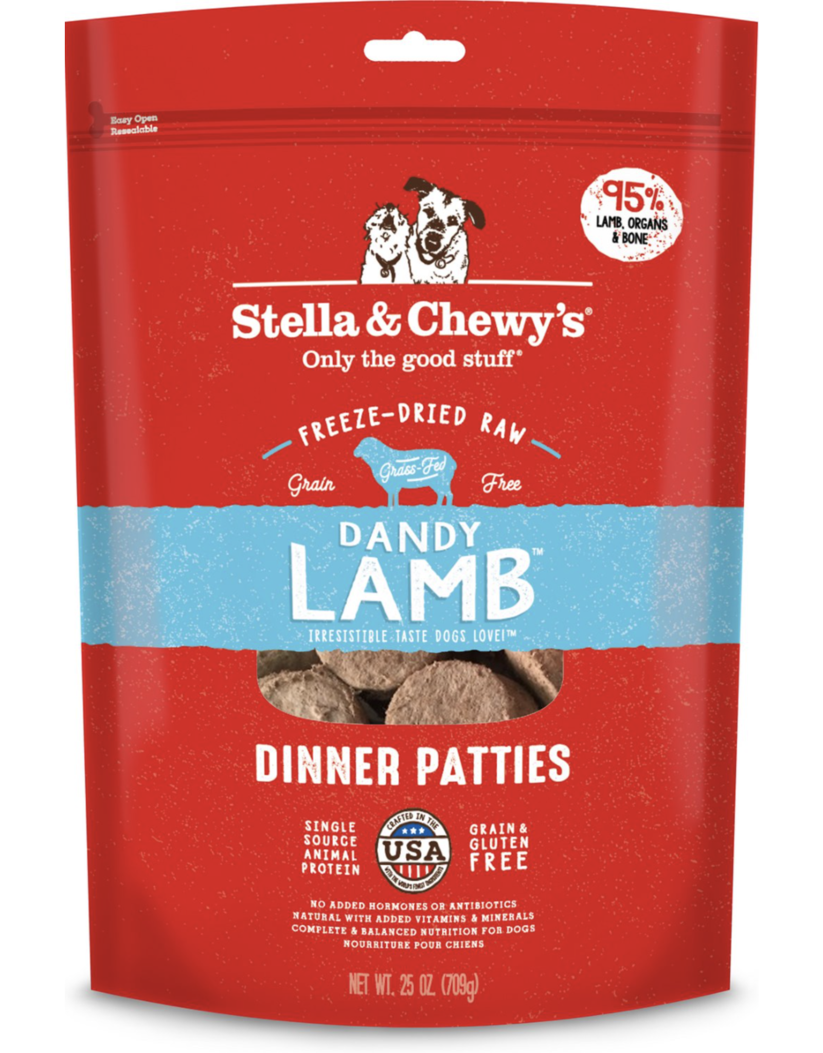Stella & Chewys Stella & Chewy's Dandy Lamb Dinner Patties Freeze-Dried Raw Dog Food