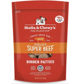 Stella & Chewys Stella & Chewy's Stella's Super Beef Dinner Patties Freeze-Dried Raw Dog Food 25OZ