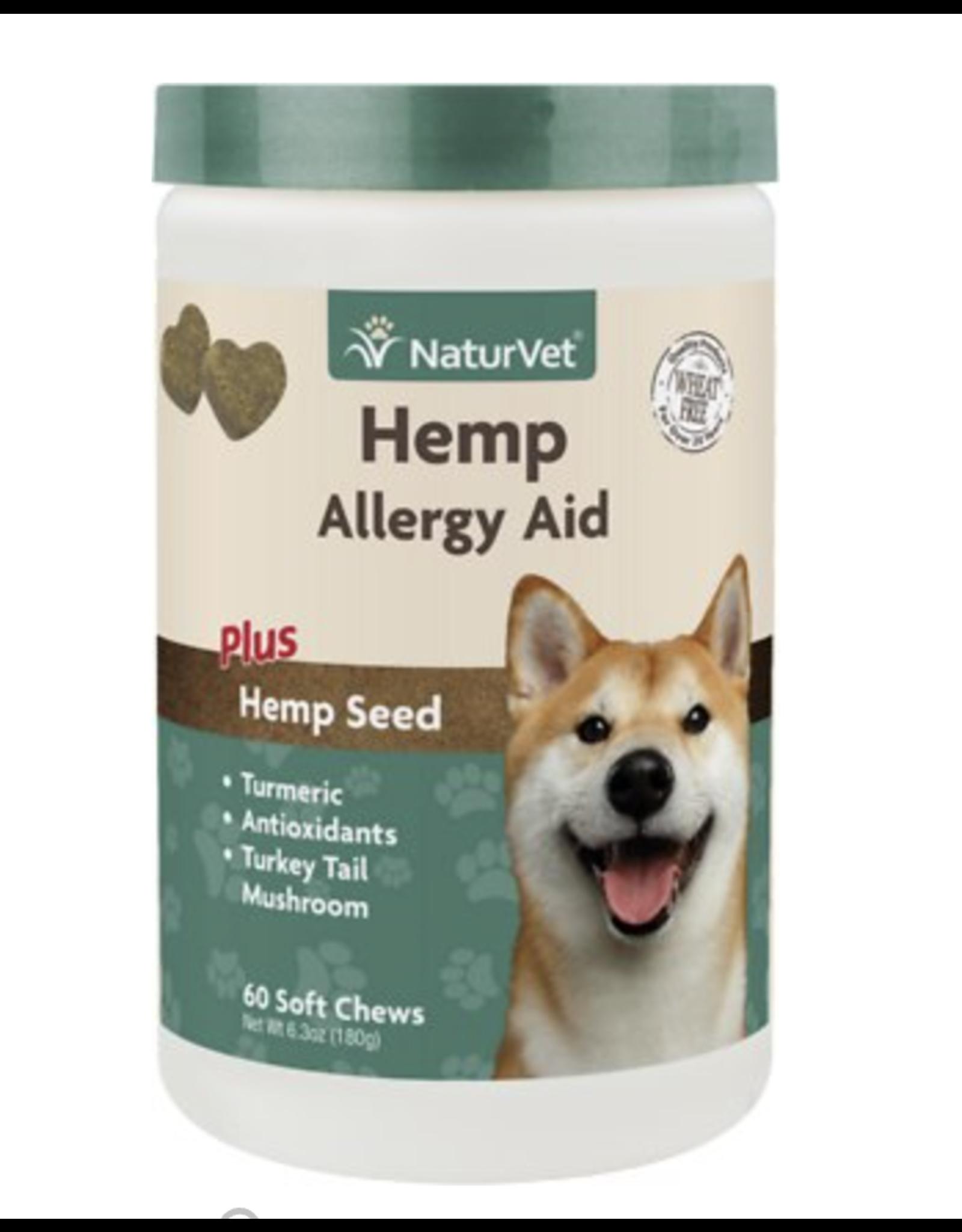 NaturVet NaturVet Hemp Allergy Aid Plus Hemp Seed Dog Soft Chews 60CT