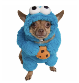 Pet Krewe Cookie Monster Walking Dog Costume