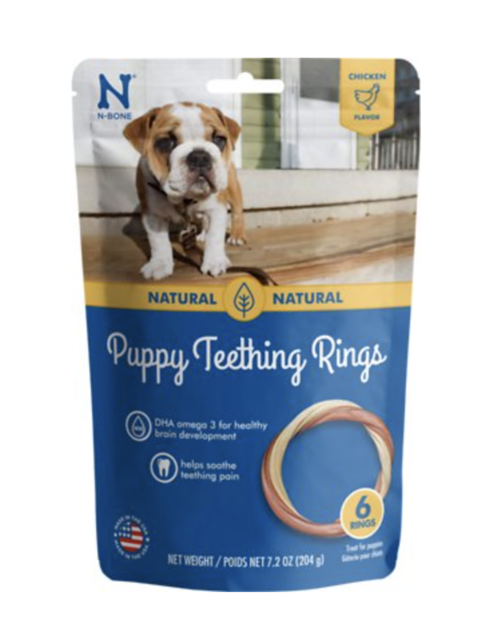 N-Bone N-Bone Puppy Teething Ring - Chicken Flavor