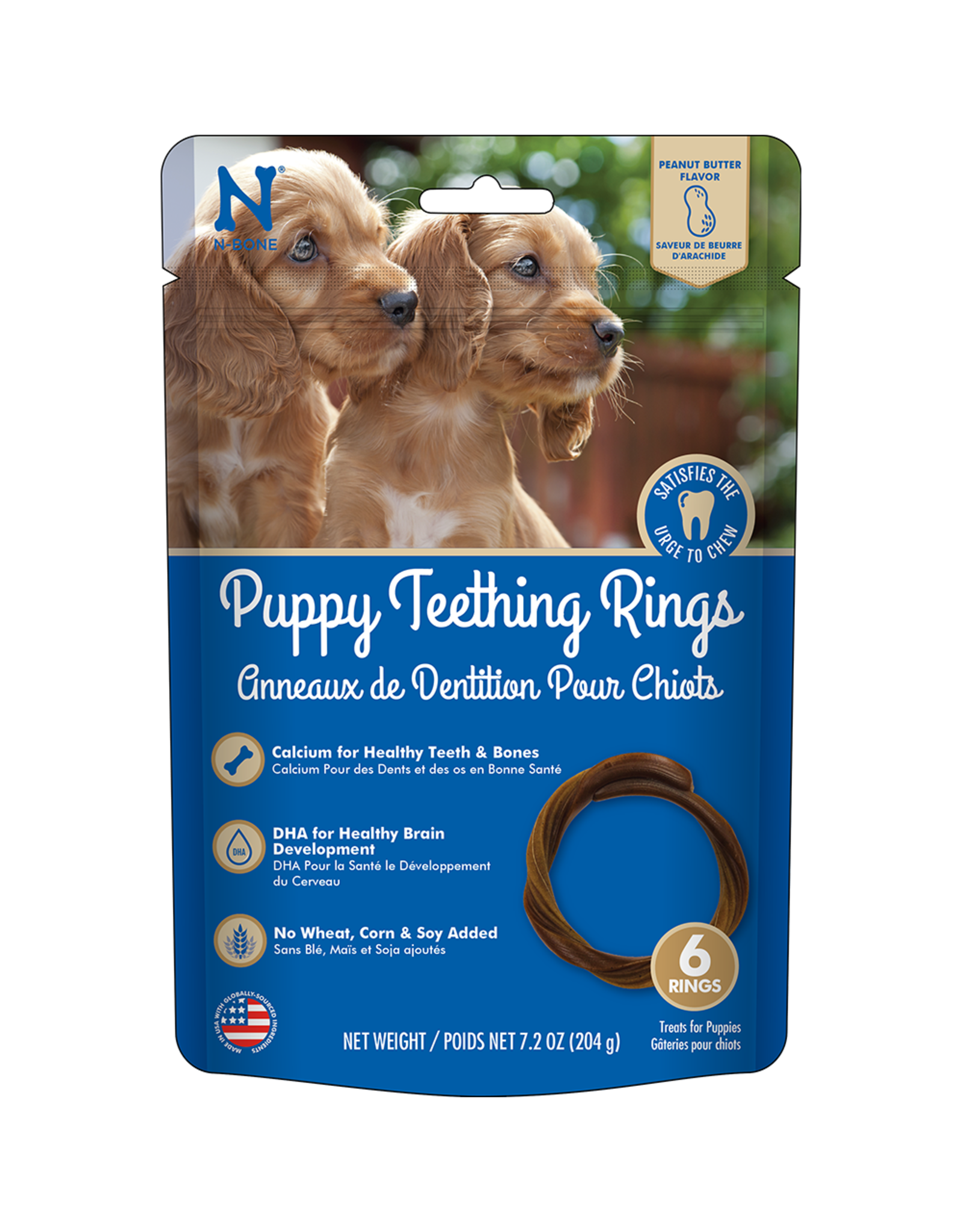 N-Bone N-Bone® Puppy Teething Rings Peanut Butter