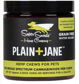 Super Snout Hemp GRAIN FREE PLAIN+JANE 30CT BROAD SPECTRUM HEMP CHEWS