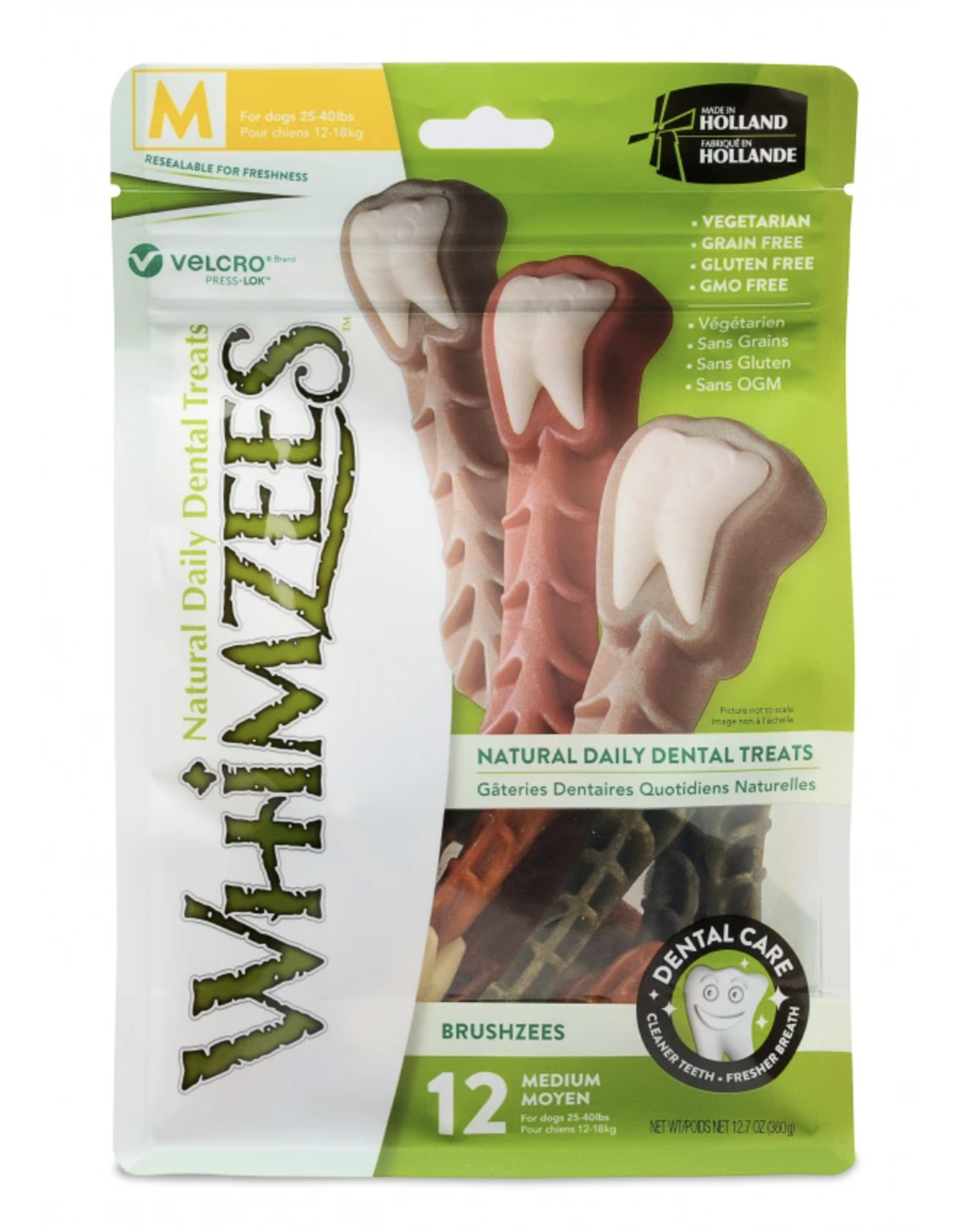 Whimzees Whimzees Natural Dental Treats - Brushzees
